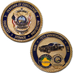 FHP 75th Anniversary Coin - Gold w/Silver