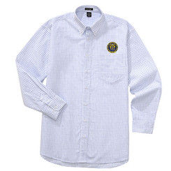 Men's Easy-Care Checkered Long Sleeve Shirt - NJCP