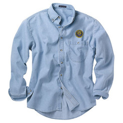 Men's Denim & Twill Long Sleeve Shirt - NJCP