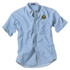 Men's Denim & Twill Short Sleeve Shirt - NJCP
