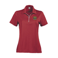 Ladies' Two-Tone Stripe Jersey Short Sleeve Polo - NJCP