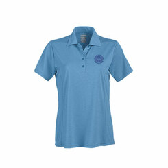 Ladies' Heather Princess Seam Short Sleeve Polo - GACP