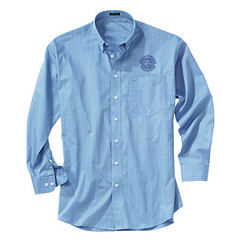 Men's Easy-Care Checkered Long Sleeve Shirt - GACP