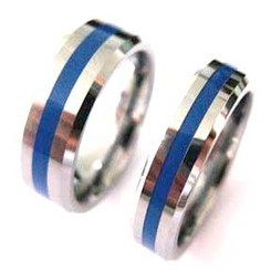 Tungsten Blue Line Brotherhood?Band 5mm & 7mm width