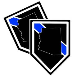 State of Arizona Thin Blue Line Police Decal (Sticker) - Pack of 2 Decals