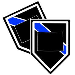 State of Colorado Thin Blue Line Police Decal (Sticker) - Pack of 2 Decals