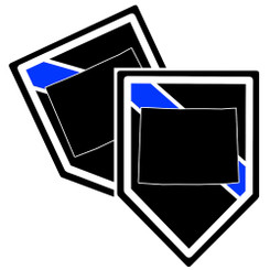 State of Wyoming Thin Blue Line Police Decal (Sticker) - Pack of 2 Decals