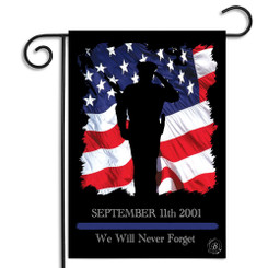 Sept. 11th We Will Never Forget Garden Flag