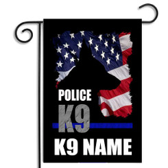 Personalized Police or Sheriff  K9 Garden Flag
