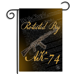 Protected By AK-74 We The People Garden Flag
