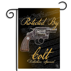 Protected By Colt Detective Special We The People Garden Flag