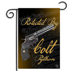 Protected By Colt Python We The People Garden Flag