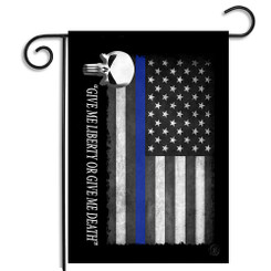 The Punisher Give Me Liberty Or Give Me Death Garden Flag - Police