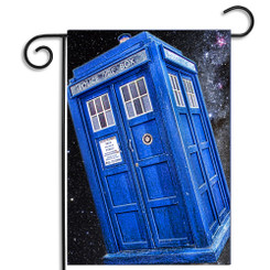 Dr. Who Tardis Garden Flag