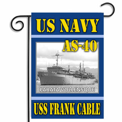 US Navy AS-40 USS Frank Cable Garden Flag