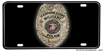 US Marine Corps Military Police Badge Aluminum License plate