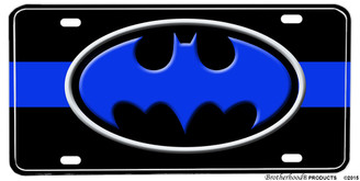 Thin Blue Line Batman Aluminum License plate