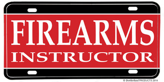 Firearms Instructor Aluminum License Plate