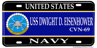 USS Dwight D Eisenhower CVN-69 Aluminum License Plate