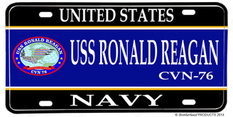 USS Ronald Reagan CVN-76 Aluminum License Plate
