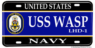 USS Wasp LHD-1 Aluminum License Plate
