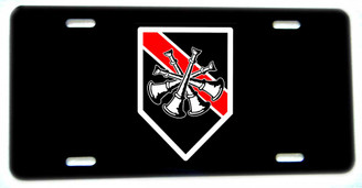 Thin Red Line 4 Crossed Horns Firefighter Deputy Chief License plate