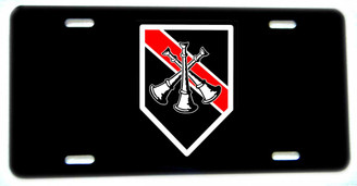 Thin Red Line 3 Crossed Horns Firefighter Assistant Chief License plate