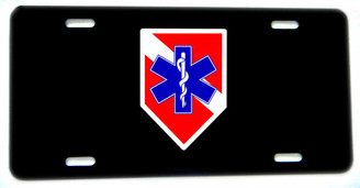 Diver Down Flag Star of Life Aluminum License plate