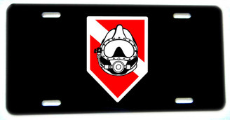 Diver Down Flag Dive Helemt Aluminum License plate