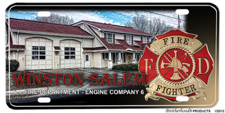 Winston-Salem Fire Department Engine Company 8 License plate