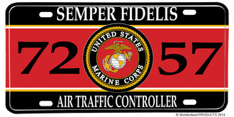 US Marines MOS 7257 Air Traffic Controller License plate