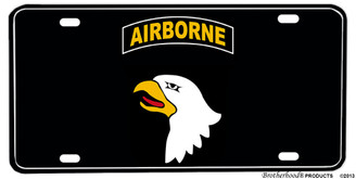 United States Army 101st Airborne Aluminum License plate
