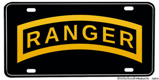United States Army Ranger Aluminum License plate