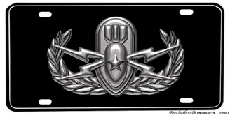 Military Senior EOD Emblem Aluminum License plate