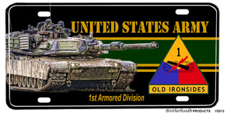 US Army Old Ironsides 1st Armored Division License plate