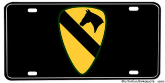 US Army 1st Cavalry The First Team Division Aluminum License plate