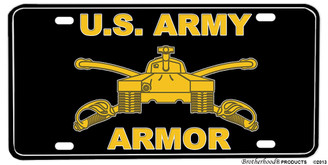 US Army Armor Tank Aluminum License plate