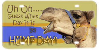 Guess What Day It Is, Its's Hump Day License plate