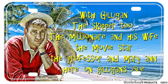 Gilligan's Island Theme Song Aluminum License plate