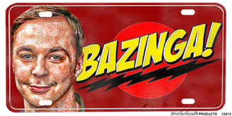 Sheldon Cooper Bazinga Big Bang Theory License plate