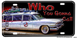 Ghostbusters Who You Gonna Call Cadillac Aluminum License plate