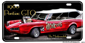 1966 Pontiac GTO Monkeemobile Aluminum License plate