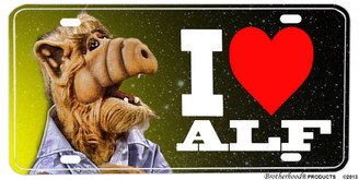 I Love Alf Space Alien Aluminum License plate
