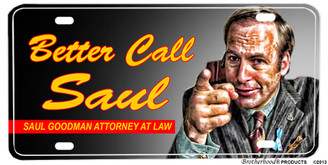 Better Call Saul Attorney At Law Aluminum License plate
