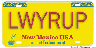 Better Call Saul LWYRUP Aluminum License plate