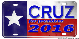 Texas Flag Ted Cruz for President 2016 Aluminum License plate