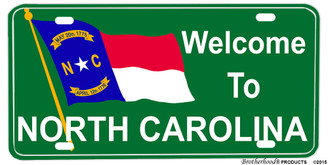 Welcome to North Carolina Aluminum License plate