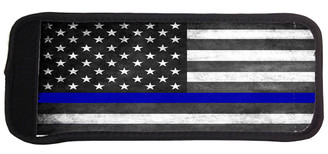 Thin Blue Line Subdued American Flag Can Cooler