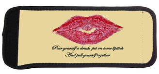 Elizabeth Taylor Quote Pour Yourself a drink, put on some lipstick and pull yourself together can cooler.