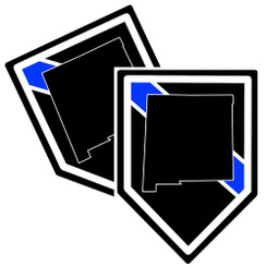 State of New Mexico Thin Blue Line Police Decal (Sticker) - Pack of 2 Decals